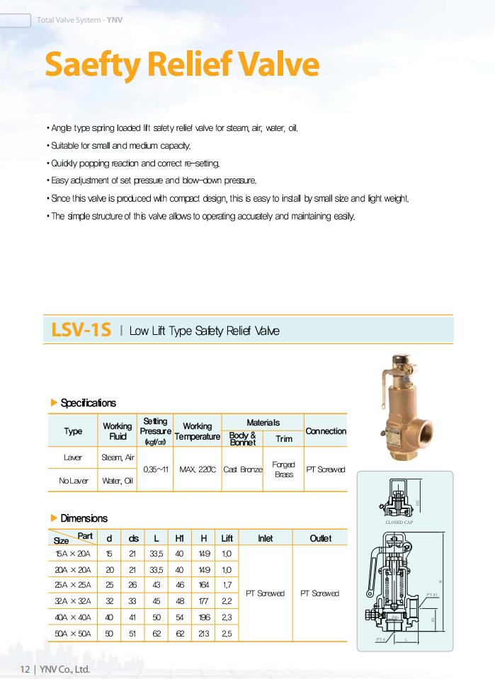 catalog van an toan YNV LSV-1S