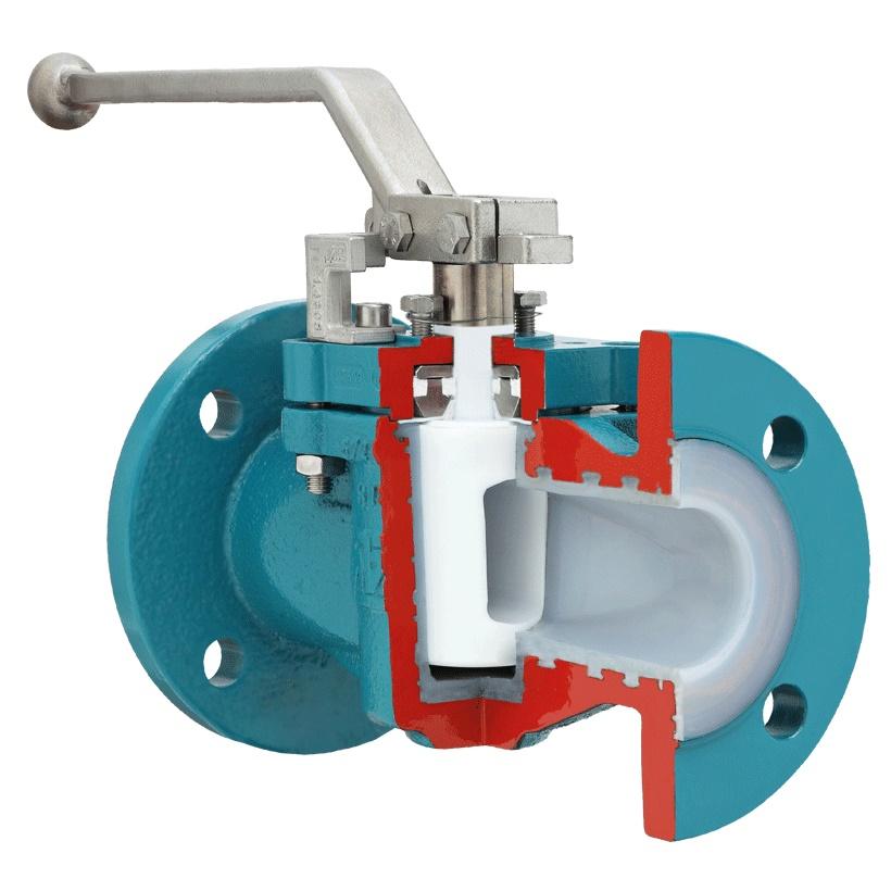 Van nút bọc Teflon PFA FEP PTFE Plug valve0