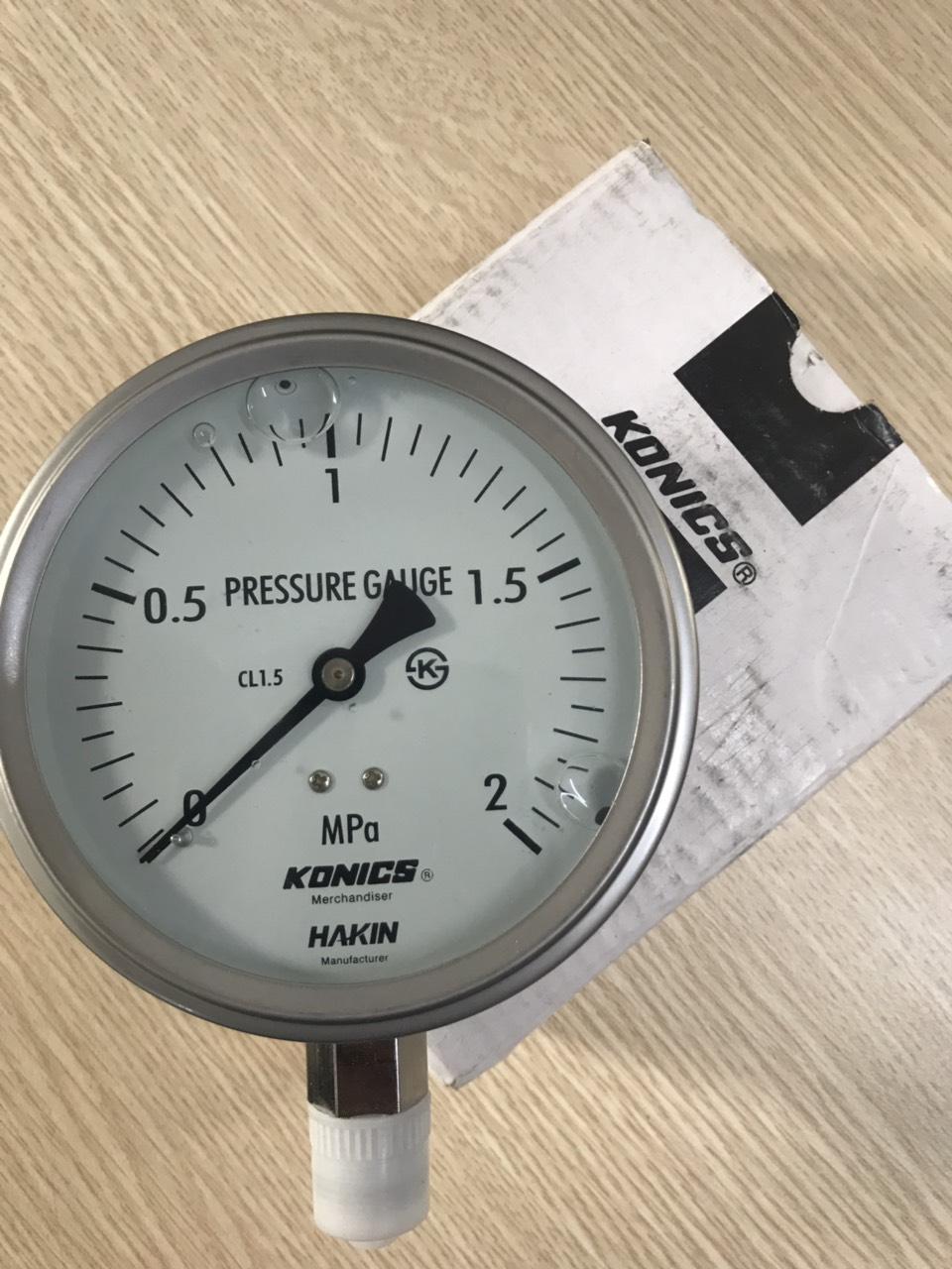 Đồng hồ đo áp suất nước KONICS Hàn Quốc0