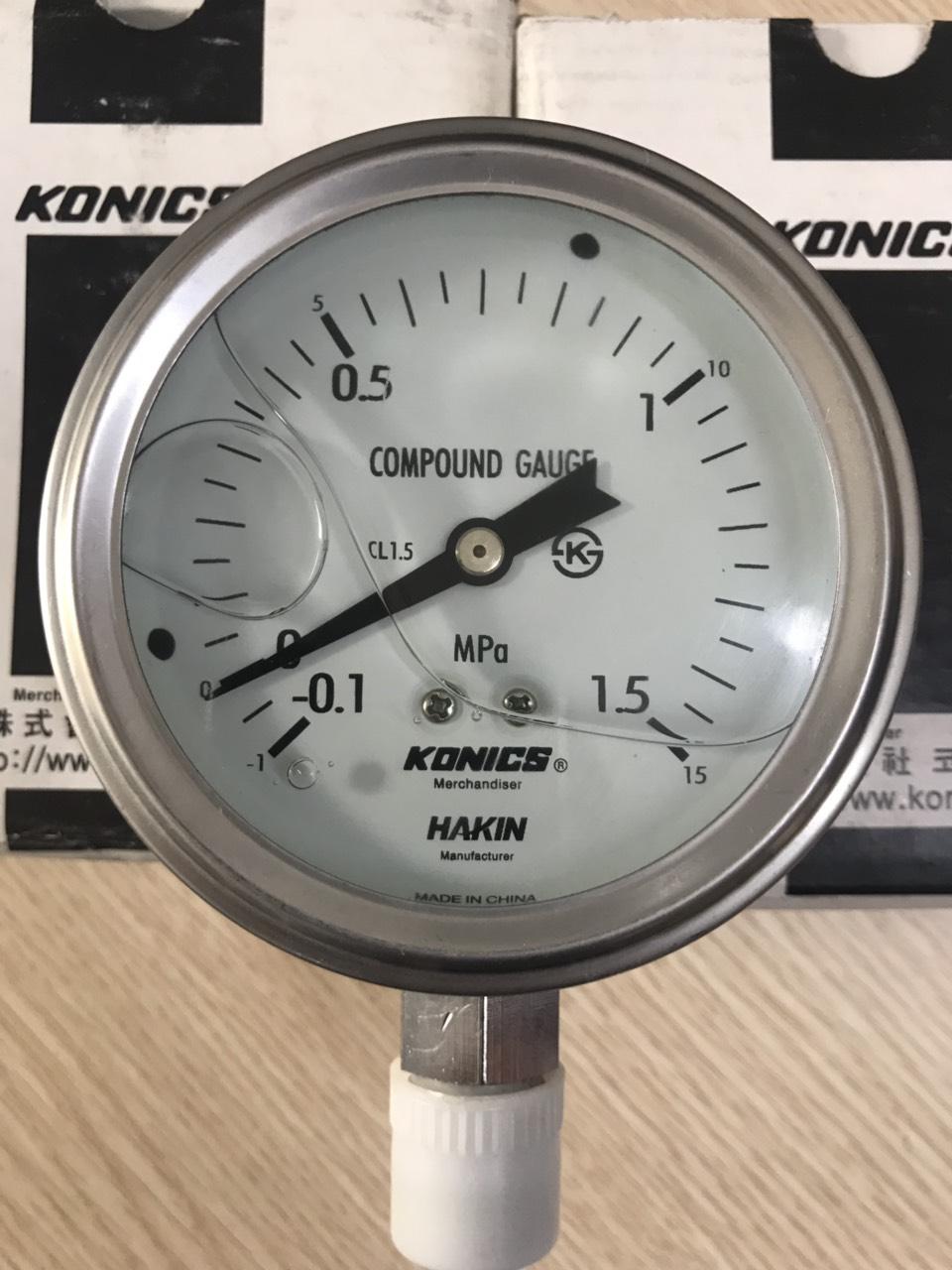 Pneumatic pressure gauges -Konics in Vietnam0