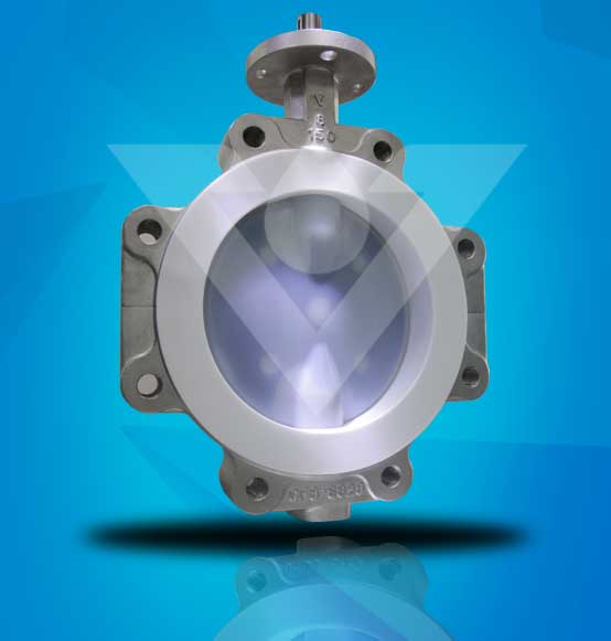 PTFE Lined Butterfly Valve With Stainless Steel Body Material0