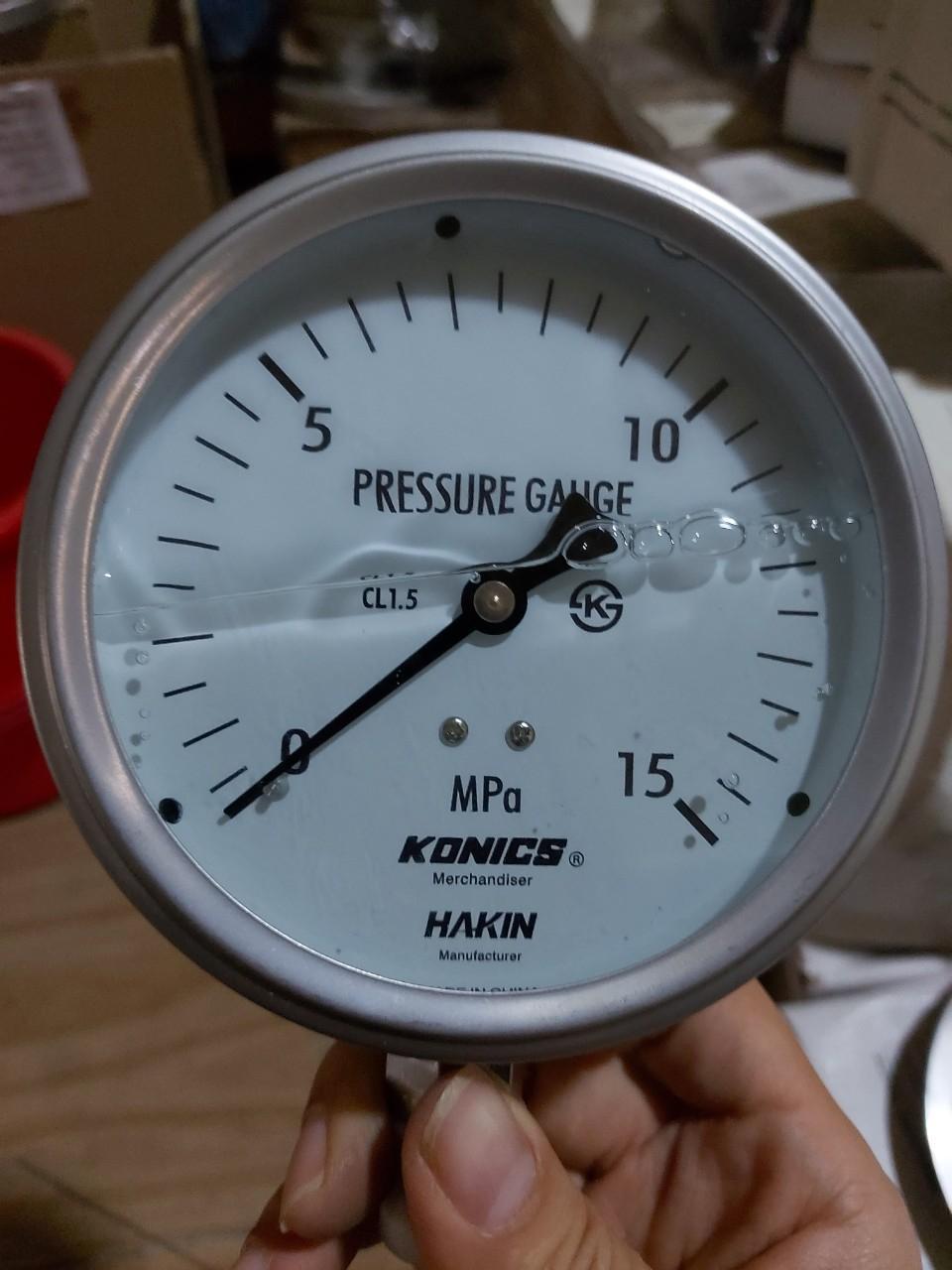 đồng hồ đo áp suất cao 150bar 15mpa