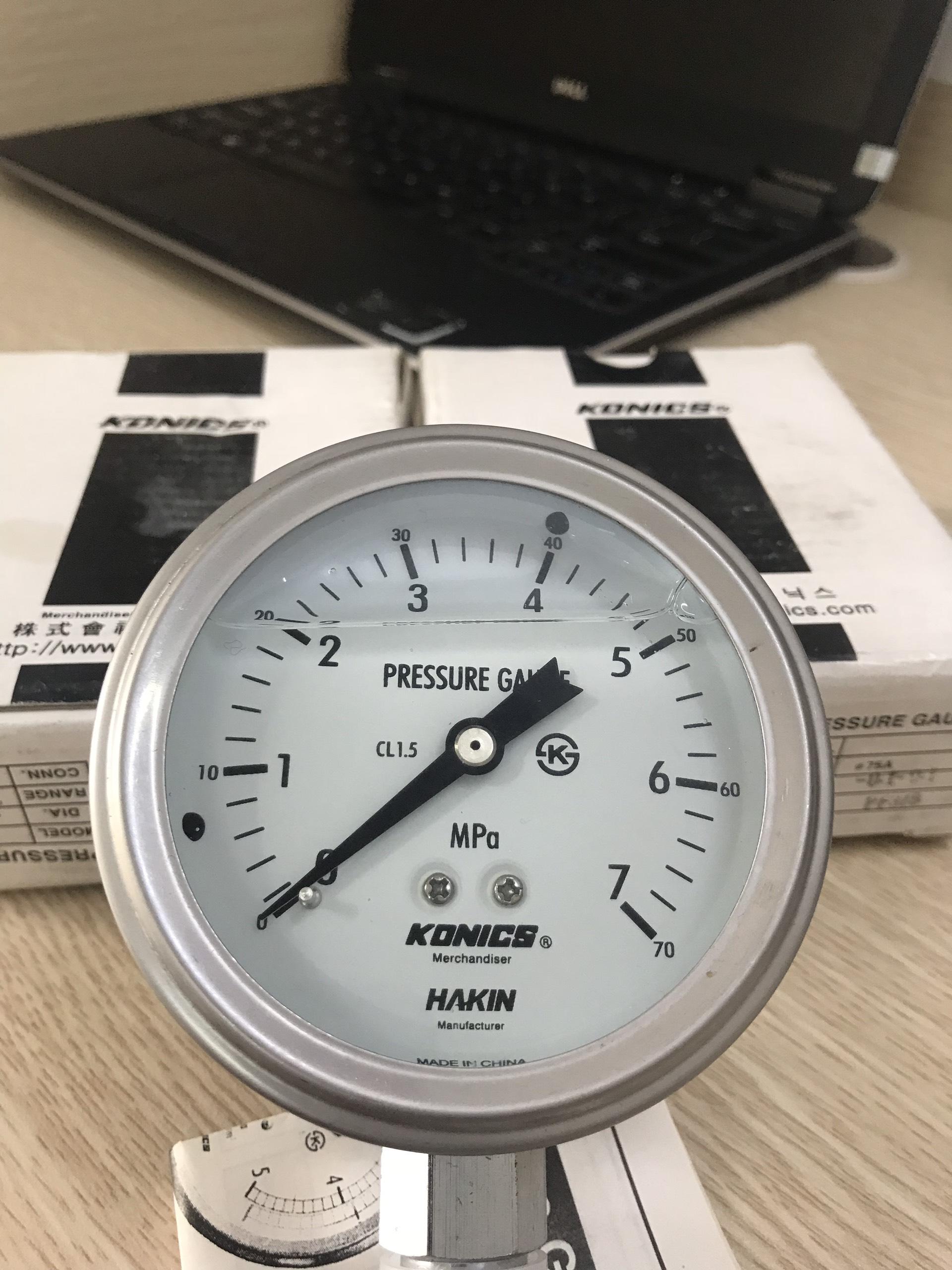 đồng hồ đo áp suất cao 70bar 7MPa