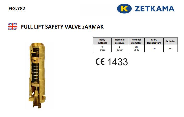 van an toàn đồng Zetkama 782
